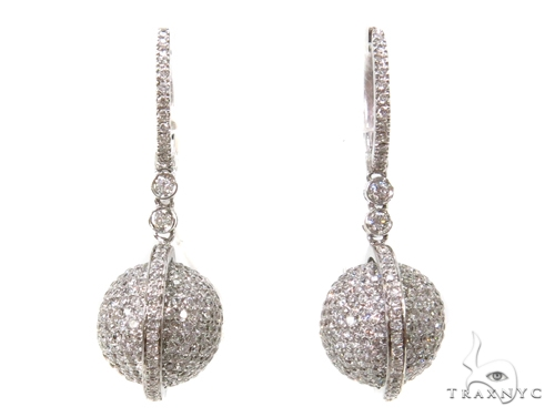 Saturn Diamond Chandelier Earrings 40402 Style
