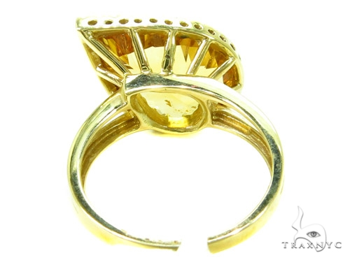 Prong Diamond pear cut Citrine Ring Anniversary/Fashion