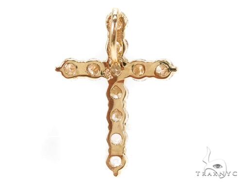 Prong Diamond Cougar Cross Crucifix 37430 Style