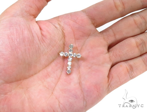 Prong Diamond Cougar Cross Crucifix 37430 Style
