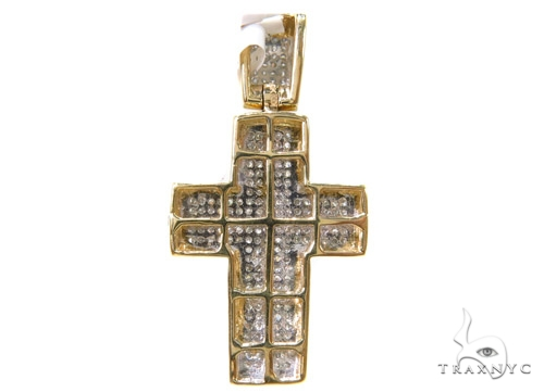 Prong Diamond Cross Crucifix 37554 Diamond