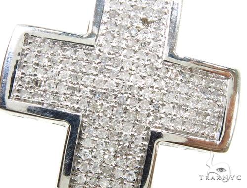Prong Diamond Cross Crucifix 37559 Diamond