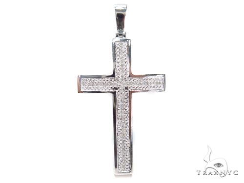 Prong Diamond Cross Crucifix 40596 Diamond