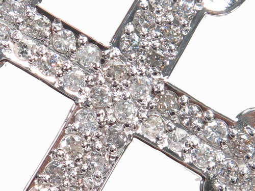 Prong Diamond Cross Crucifix 40669 Diamond