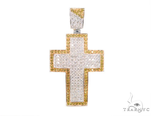 Prong Diamond Cross Crucifix 44119 Diamond