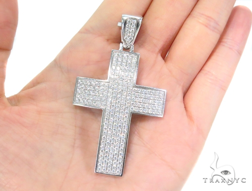 Prong Diamond Cross Crucifix 44134 Diamond