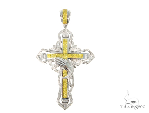 Prong Diamond Cross Crucifix 45543 Diamond