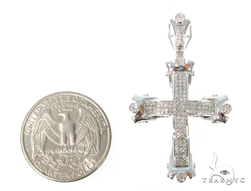Prong Diamond Cross Crucifix 45546 Diamond