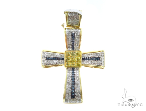 Prong Diamond Cross Crucifix 45547 Diamond