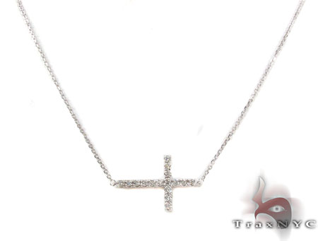 Prong Diamond Cross Crucifix Necklace 32010 Diamond Cross Pendants