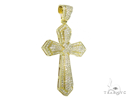 Prong Diamond Cross Pendant 48968 Diamond