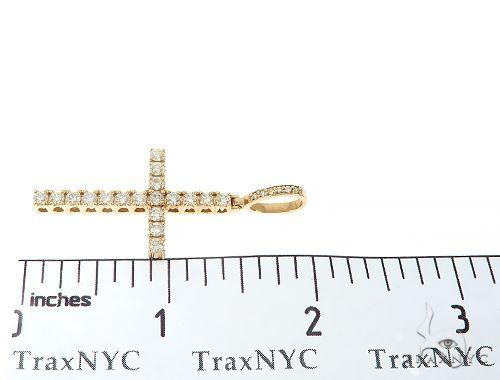 14K Gold Prong Diamond Cross Pendant 65422 Diamond