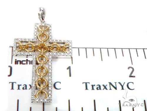 Prong Diamond Cross Crucifix Pendants 40231 Style