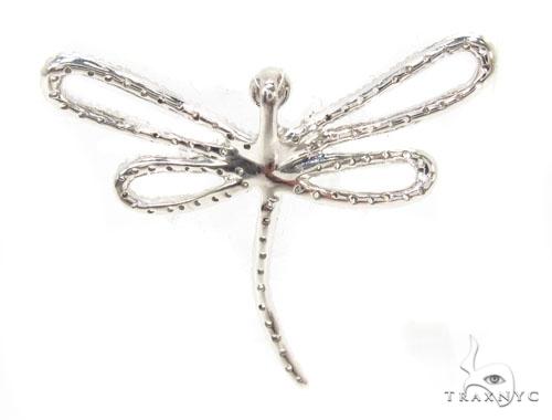 Prong Diamond Dragonfly Pendant 36226 Stone