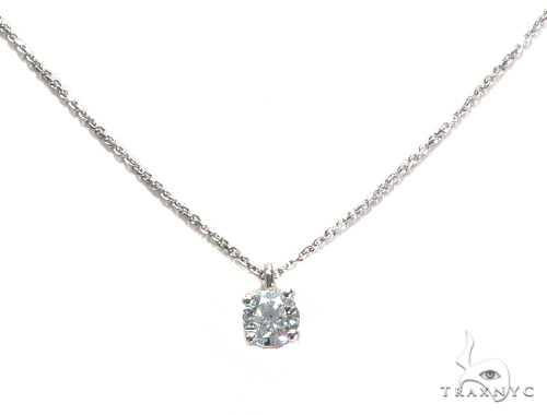 Prong Diamond Earrings & Necklace Set 43165 Diamond
