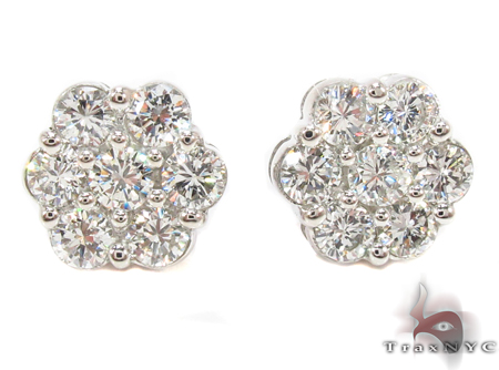 Prong Diamond Earrings 32330 Stone