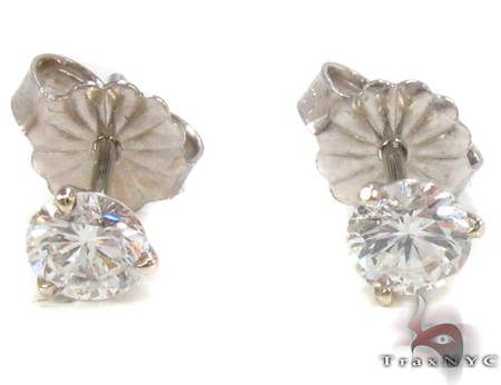 Prong Diamond Earrings 33145 Stone