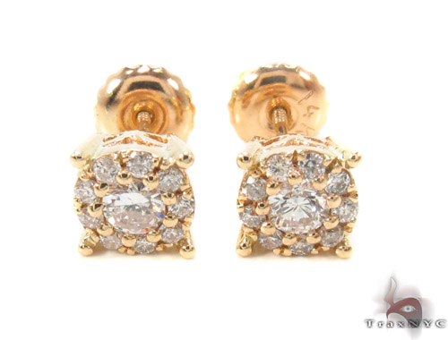 Prong Diamond Earrings 35552 Stone