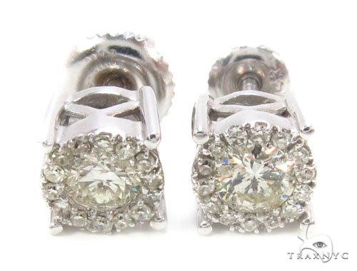 Prong Diamond Earrings 35922 Stone