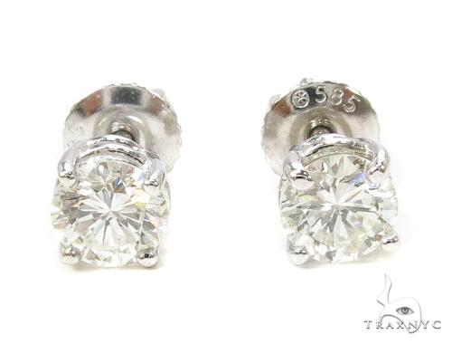 Prong Diamond Earrings 37562 Stone