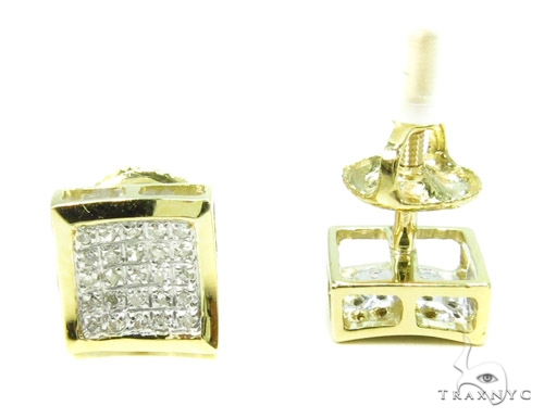 Prong Diamond Earrings 37661 Stone