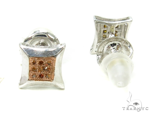 Prong Red Diamond Earrings 37692 Metal