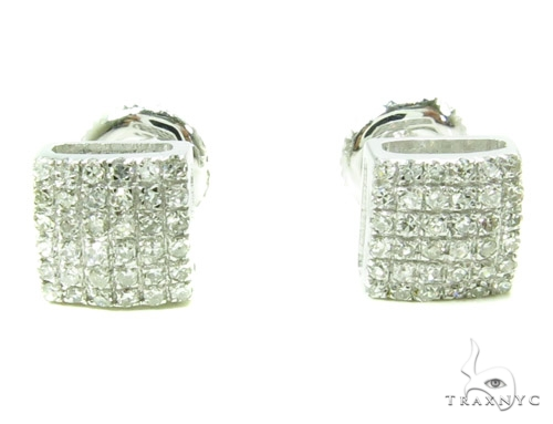 Prong Diamond Earrings 37828 Stone