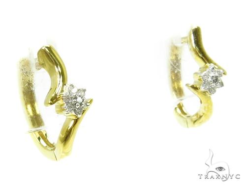 Prong Diamond Earrings 37831 Stone