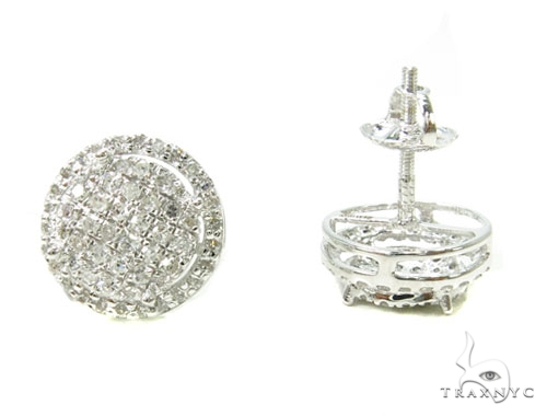 Prong Diamond Earrings 39665 Stone
