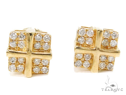 Prong Diamond Earrings 40515 Stone