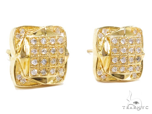 Prong Diamond Earrings 40522 Stone