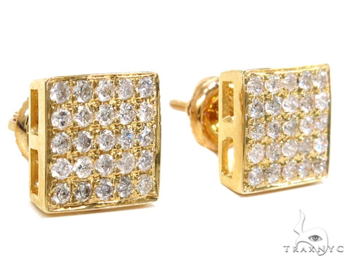 Prong Diamond Earrings 40529 Stone