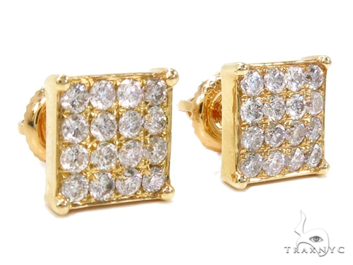 Prong Diamond Earrings 40534 Stone