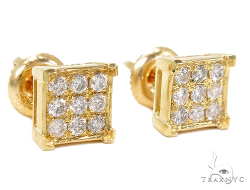 Prong Diamond Earrings 40537 Stone