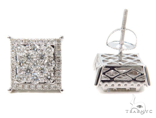 Prong Diamond Earrings 40613 Stone