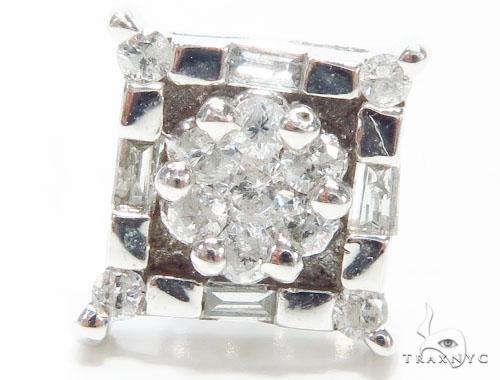 Prong Diamond Earrings 40959 Stone