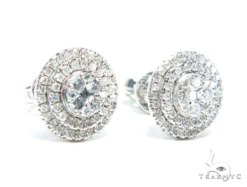 Prong Diamond Earrings 41749 Stone