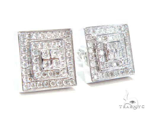 Prong Diamond Earrings 41753 Stone