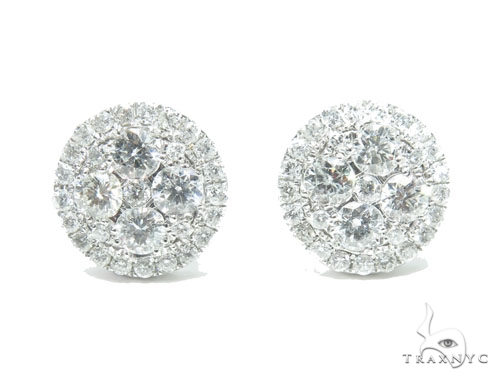 Prong Diamond Earrings 41754 Stone
