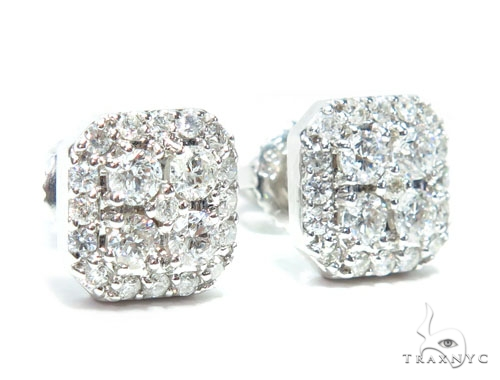 Prong Diamond Earrings 41759 Stone