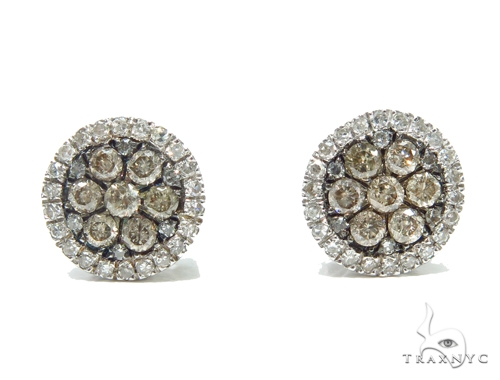 Prong Diamond Earrings 42518 Stone