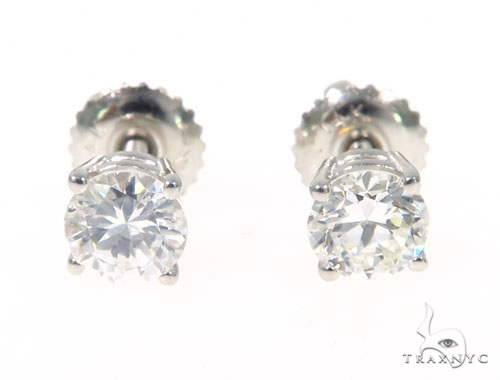 Prong Diamond Earrings 43240 Stone