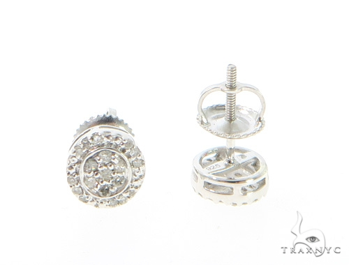 Prong Diamond Earrings 44048 Metal