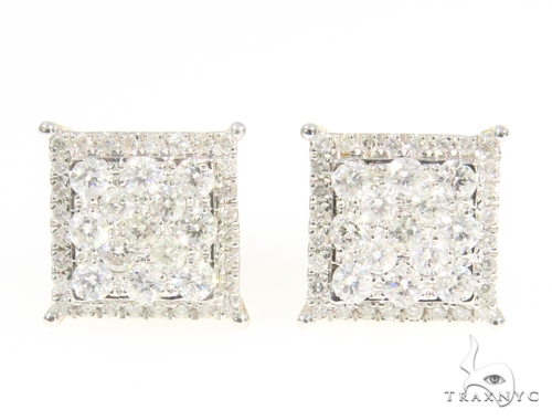 Prong Diamond Earrings 44713 Stone
