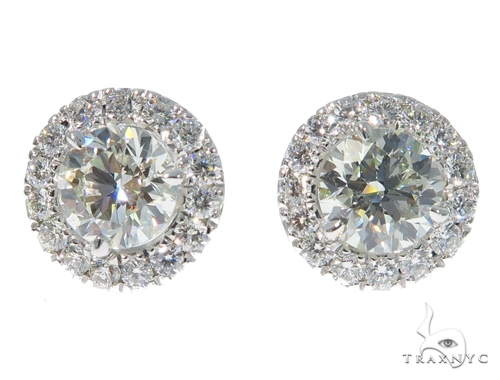 Prong Diamond Earrings 48997 Stone