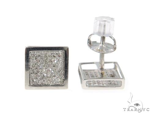 Prong Diamond Earrings 49245 Stone