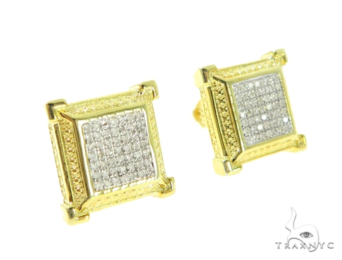Prong Diamond Earrings 49356 Metal