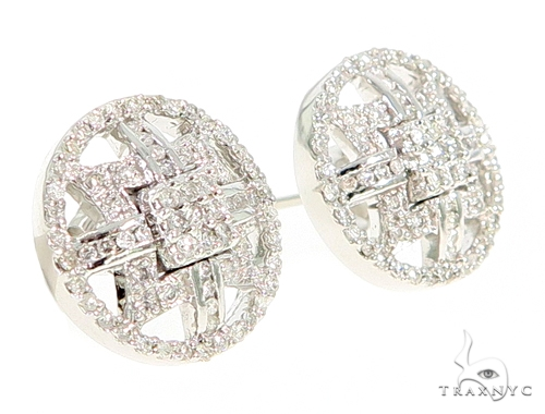 Prong Diamond Earrings 56506 Stone