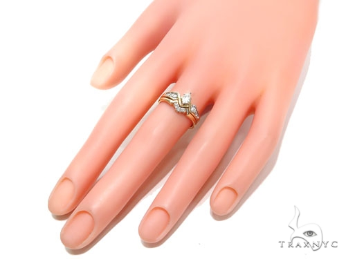 Prong Diamond Engagement Ring Set 41037 Engagement