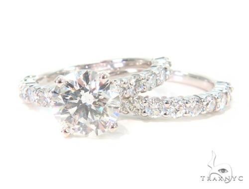Prong Diamond Engagement Ring Set 44610 Engagement